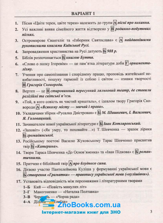 ДПА 2021 9 клас Відповіді  з української літератури : Витвицька С.  Підручники і посібники. Купити 3