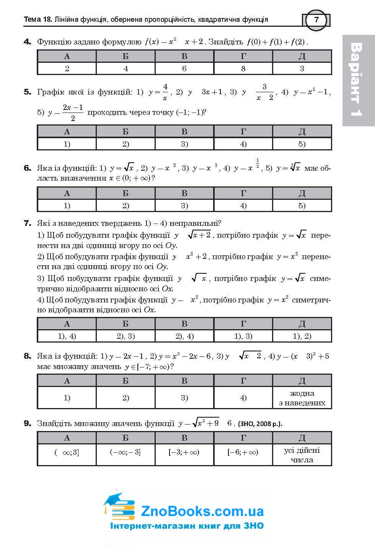 ЗНО 2021 Математика: Комплексне видання ( Клочко ) Алгебра і початки аналізу Частина 2. Навчальна книга - Богдан 5