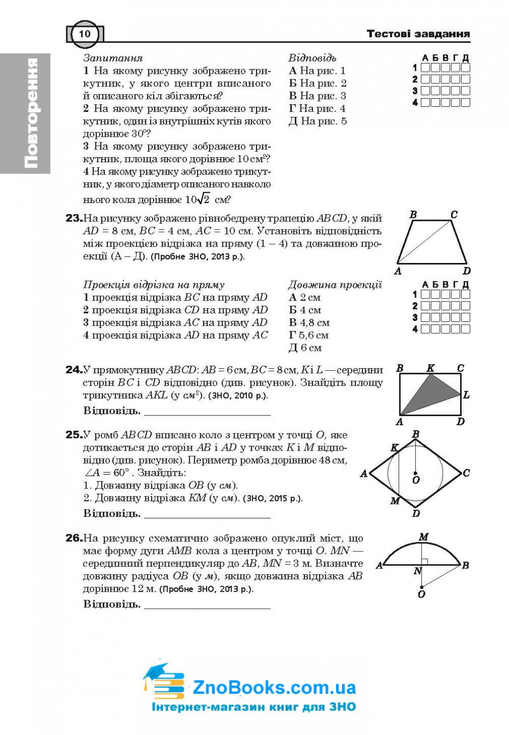 ЗНО 2020 Математика: Комплексне видання ( Клочко ) Стереометрія Частина 4 . Навчальна книга - Богдан 10