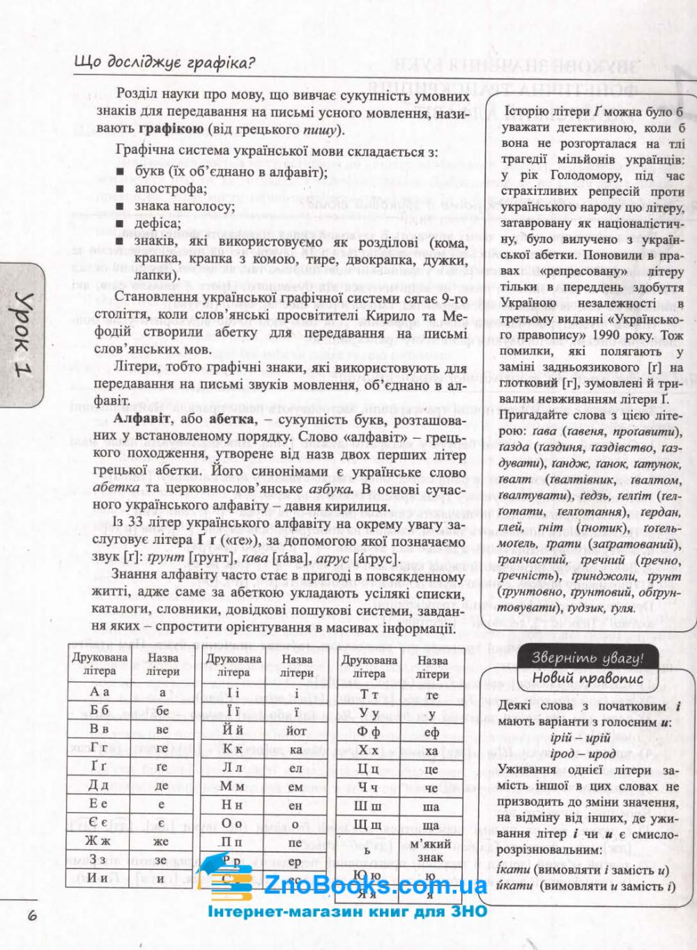 ЗНО 2022 Українська мова. Комплексне видання + ДПА : Данилевська О. Літера. купити 6