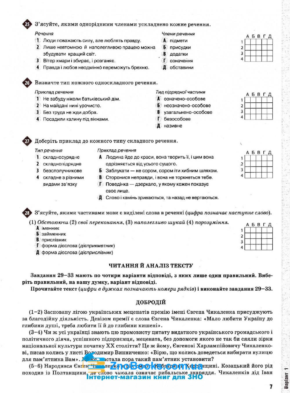 Українська мова (Глазова). Тести до ЗНО 2020 Освіта. купити 7