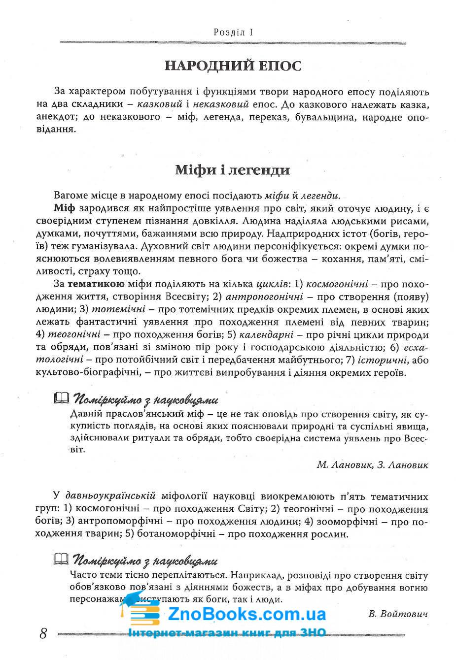 Українська література. Довідник для абітурієнтів та школярів : Мелешко В. Літера. купити 6