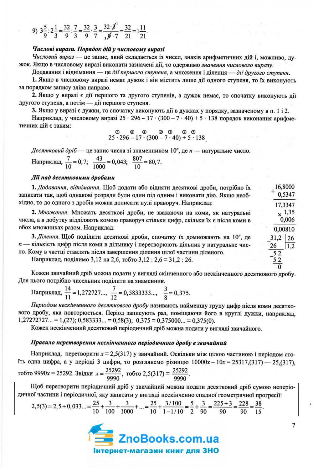 ЗНО 2021 Математика. Комплексне видання :  профільний рівень та стандарту. Капіносов А. Тернопіль купити 7