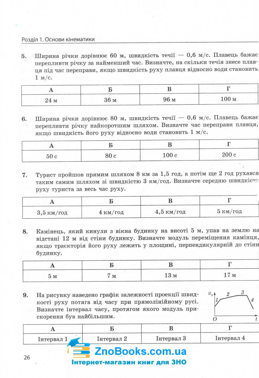 ЗНО 2022 фізика в тестах. Енциклопедія тестових завдань : Гельфгат І. Ранок. купити 9
