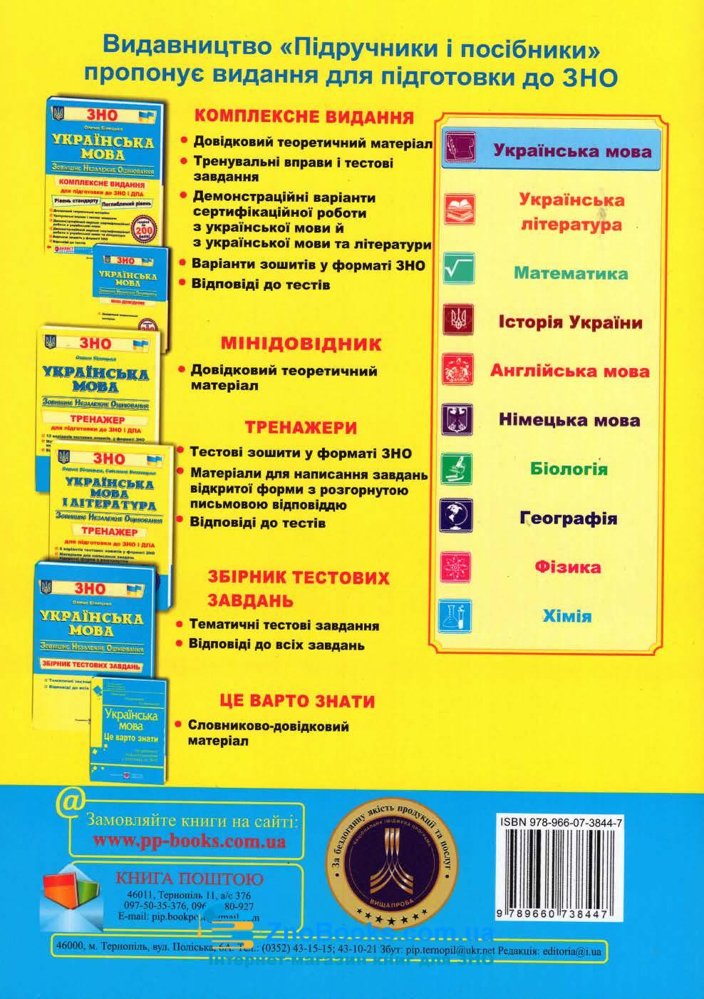 Завдання відкритої форми з розгорнутою письмовою відповіддю. Українська мова ЗНО 2021 : Готевич С. 11