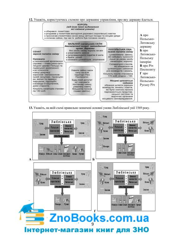 Візуальні тестові завдання з історії України. 8 клас. Підготовка до ЗНО 2020. Брецко Ф. Мандрівець 3