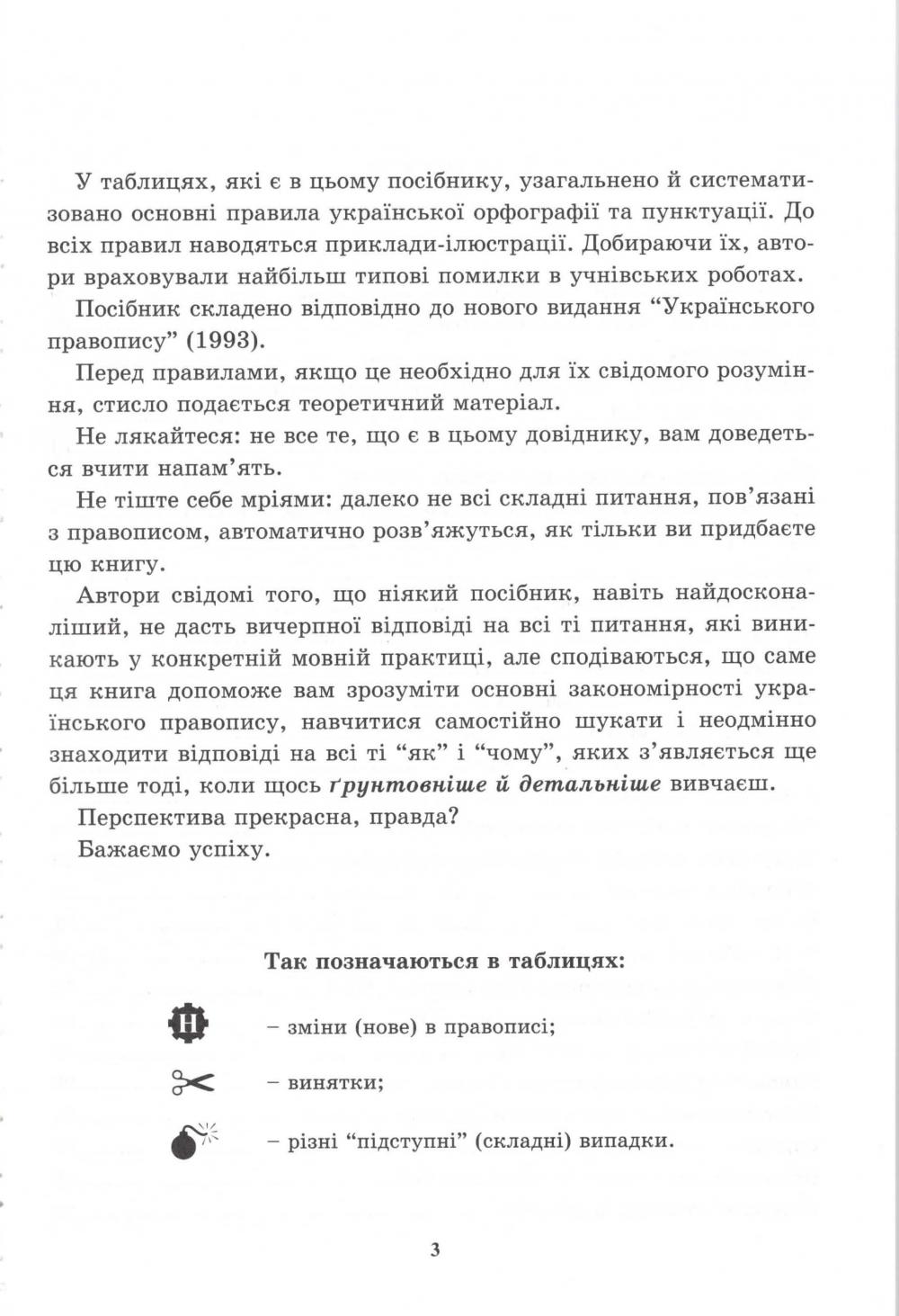 Український правопис у таблицях і схемах. Авт: Чукіна В. Вид-во: Логос. купити  4