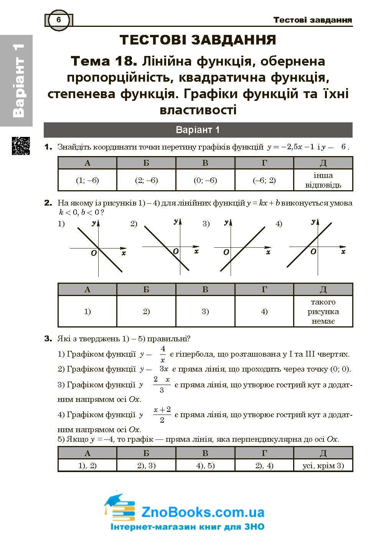 Математика ЗНО тестові завдання . Частина ІІ - алгебра і початки аналізу : Клочко І. купити 6