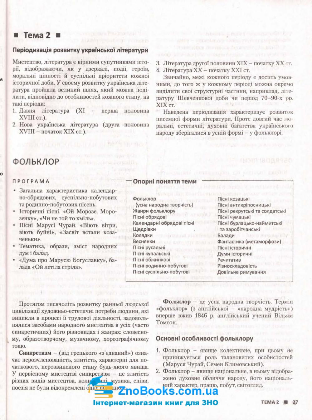 ЗНО 2022 Українська література. Комплексне видання :  Радченко І.  Літера. купити 9