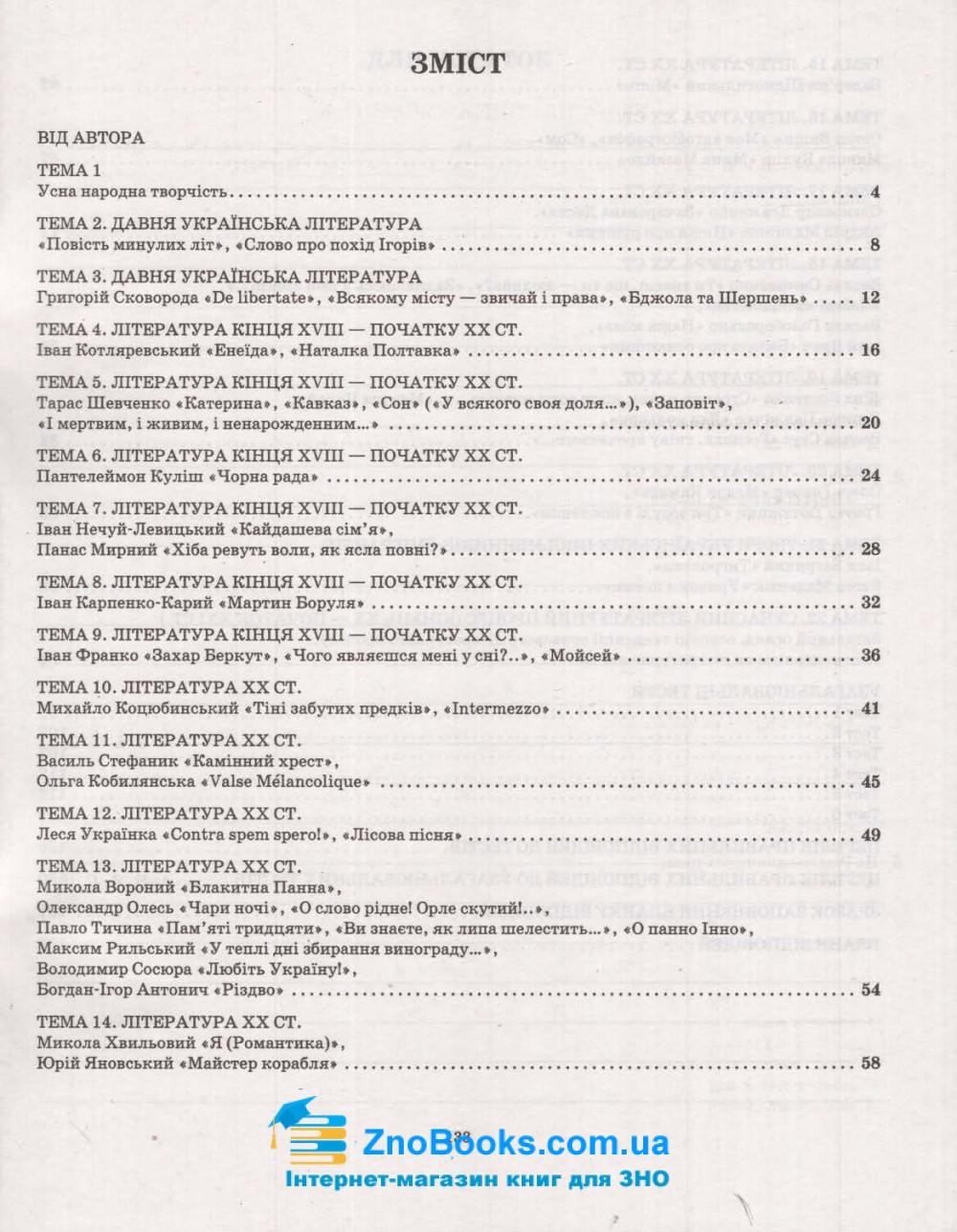 ЗНО 2022. Збірник тестових завдань. Українська література (Молочко С.) Весна купити 8