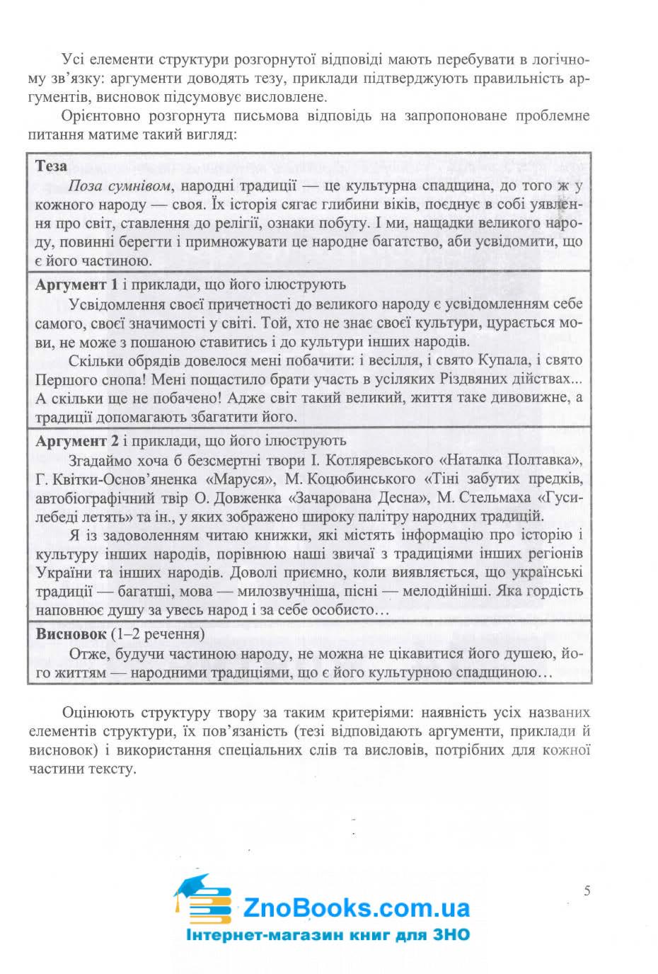 Завдання відкритої форми з розгорнутою письмовою відповіддю. Українська мова ЗНО 2021 : Готевич С. 5