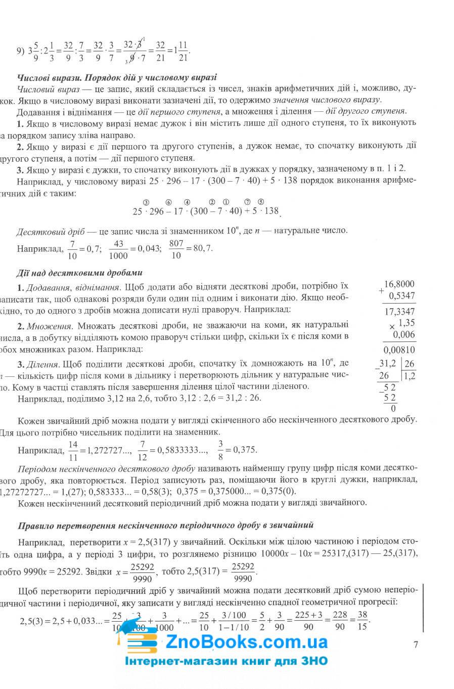 Математика. Довідник ЗНО 2022 : Капіносов А.  Підручники і посібники. купити 7