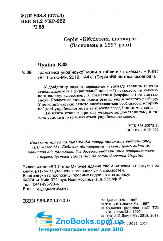 Граматика української мови в таблицях та схемах : Чукіна В. Логос. купити 3