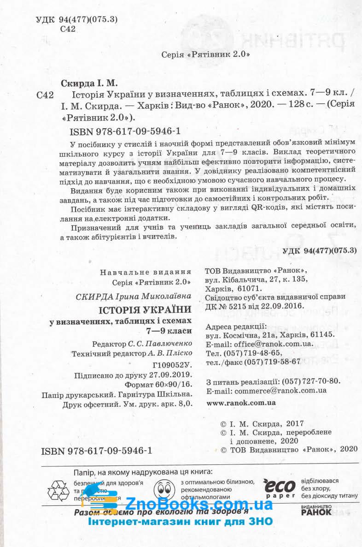 Історія України у визначеннях, таблицях і схемах (для учнів 7—9 класів та абітурієнтів. Серiя