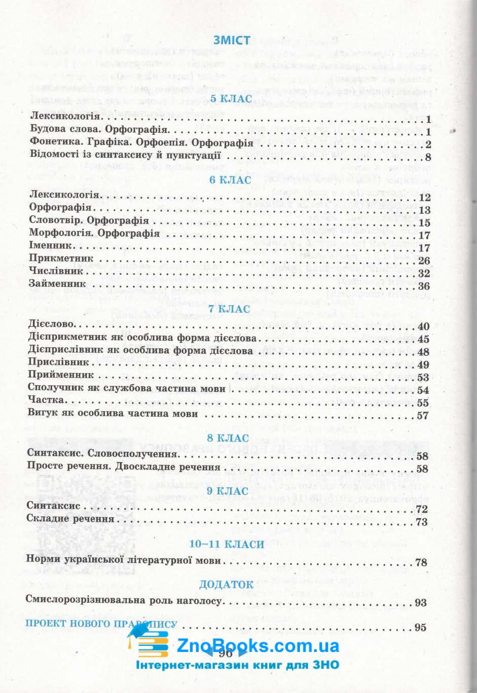 Довідник 6-11 класи з української мови. Підготовка до ЗНО та ДПА. Маркотенко Т. Весна 1