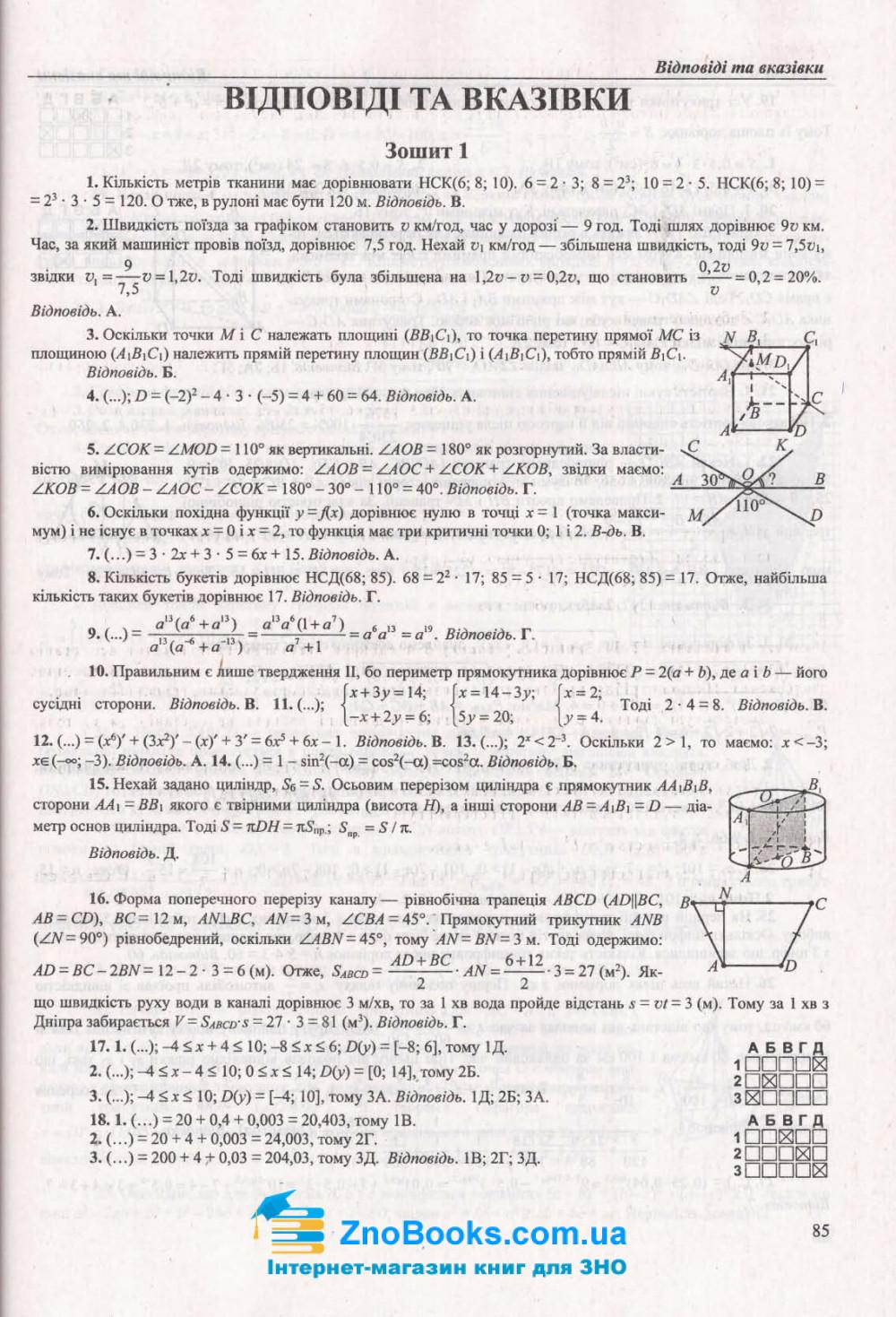 Математика ЗНО 2021 рівень стандарту та профільний. Комплексне видання + Тренажер /КОМПЛЕКТ/ : Капіносов А. Підручники і посібники. 14