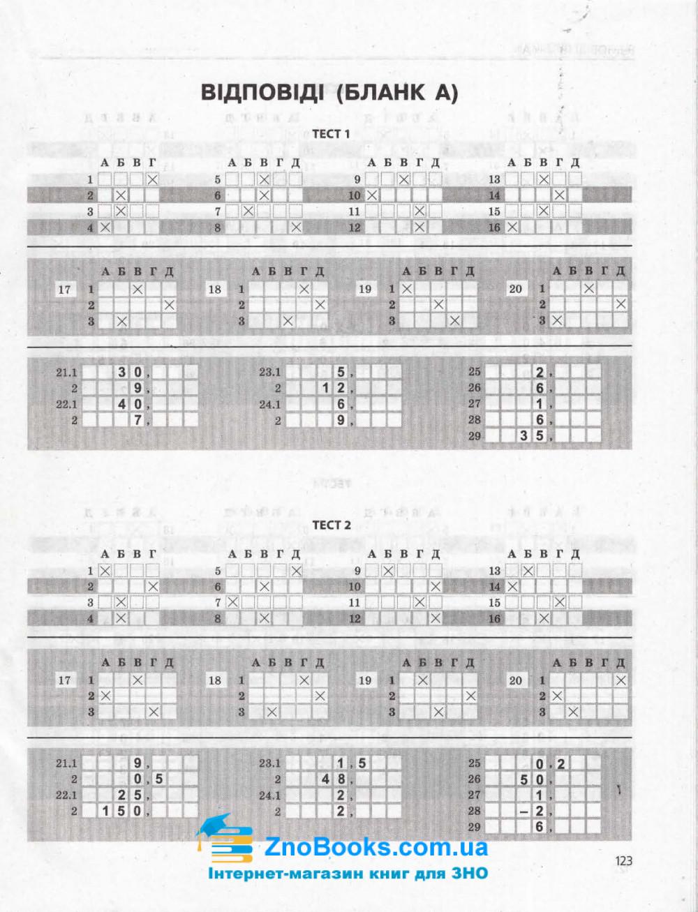 Математика ЗНО 2021. Типові тестові завдання : Гальперіна А. Літера. купити 7