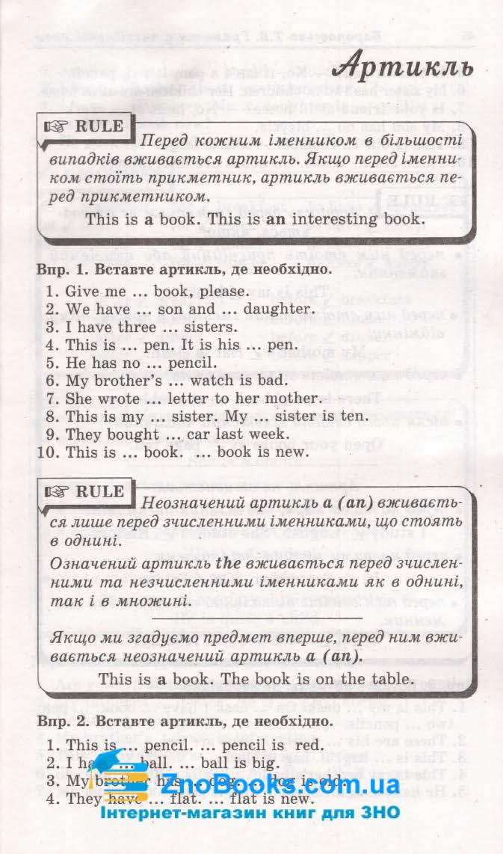 Граматика англійської мови. Збірник вправ : Барановська Т. Логос. купити 3