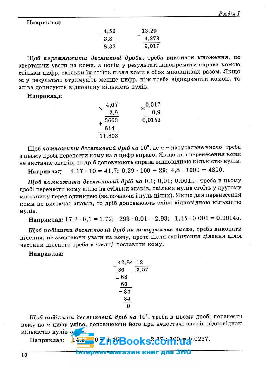 Математика ЗНО 2022. Довідник + тести : Істер О. Абетка. купити 10