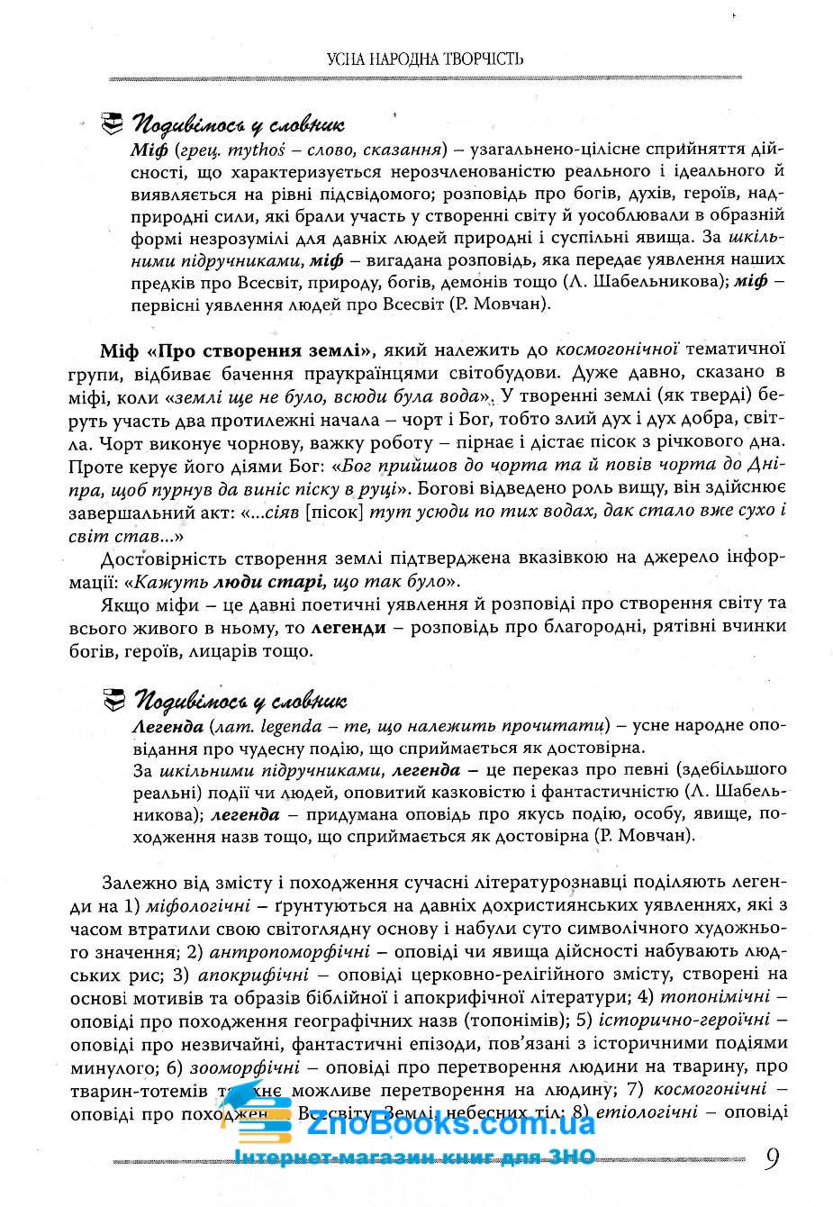 Українська література. Довідник для абітурієнтів та школярів : Мелешко В. Літера. купити 7