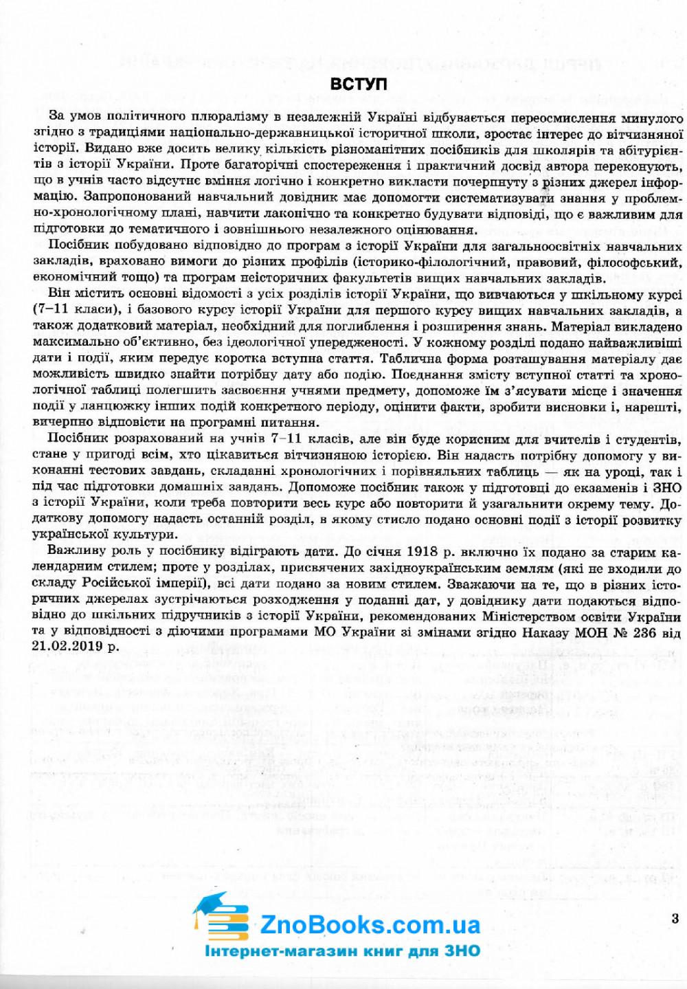 Історія України.  Хронологічні таблиці : Дух. Торсінг. купити 3