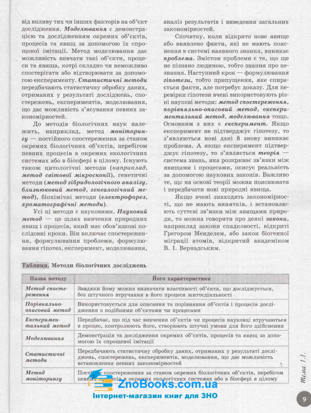 Інтерактивний довідник-практикум із тестами з біології до ЗНО 2021 : Тагліна О.  Ранок. купити 9