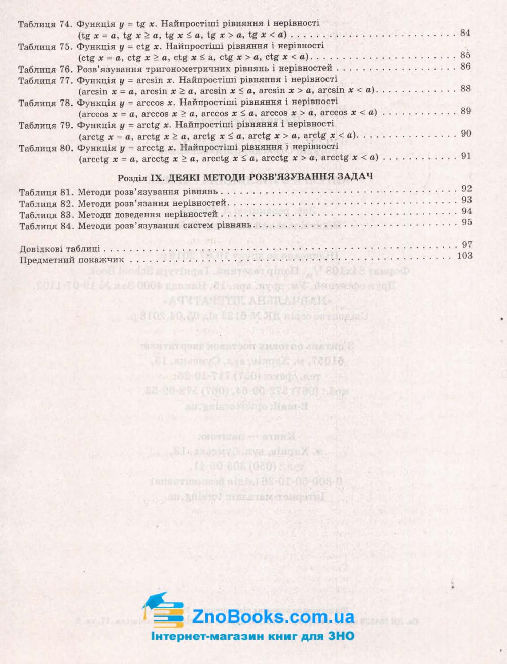 Алгебра. Таблиці та схеми : Роганін О. Торсінг. купити 7