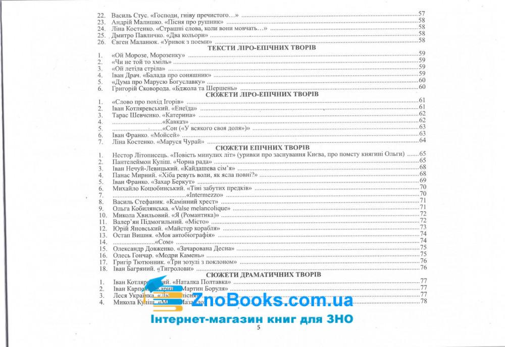 Модернізовані таблиці з української літератури. для підготовки до ЗНО : Шпільчак М. купити 5