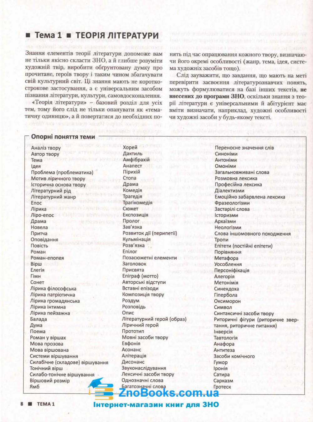 ЗНО 2022 Українська література. Комплексне видання :  Радченко І.  Літера. купити 4