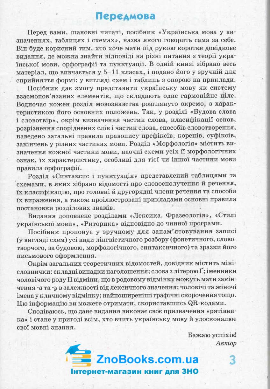 Українська мова у визначеннях, таблицях і схемах для учнів 5—11 класів. Серiя