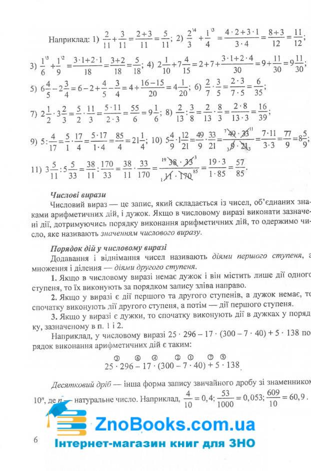ЗНО 2021 Математика. Міні-довідник : Капіносов А. Підручники і посібники. купити  5