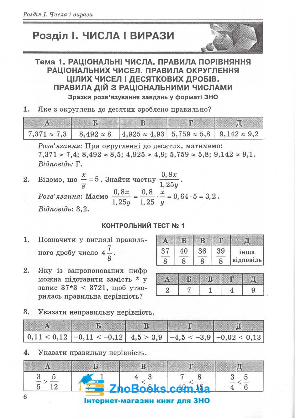 ЗНО та ДПА 2020. Математичний тренажер : Істер О. Абетка. купити 5