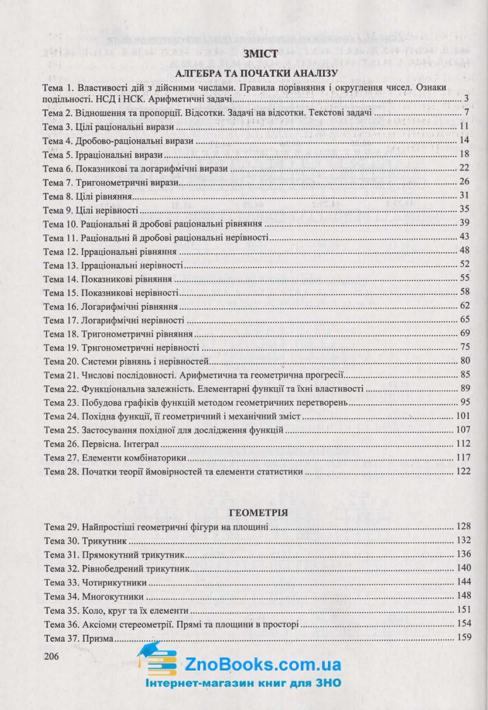 ЗНО 2021 Математика. Збірник тестів : Капіносов А. Підручники і посібники. купити  9