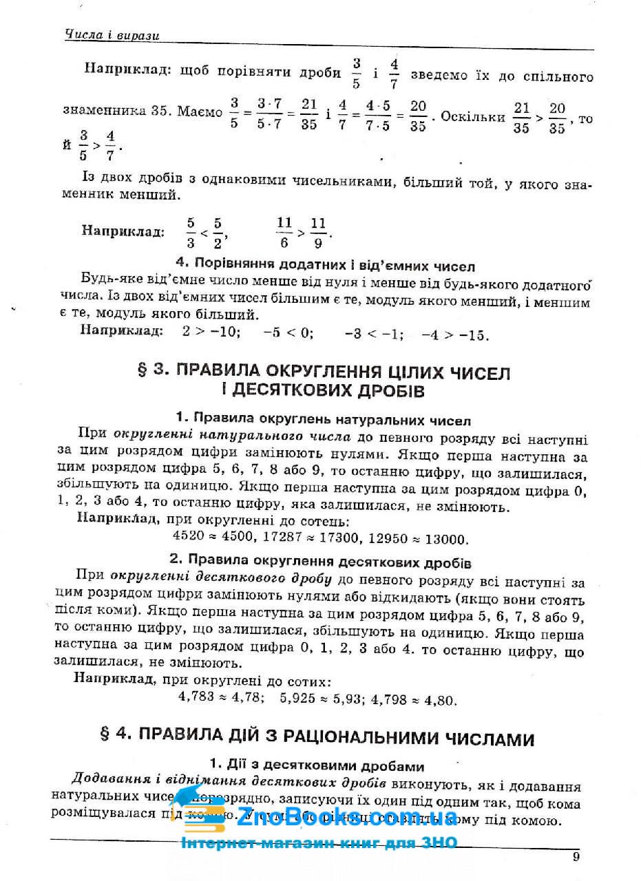 Математика ЗНО 2021. Довідник + тести : Істер О. Абетка. купити 9
