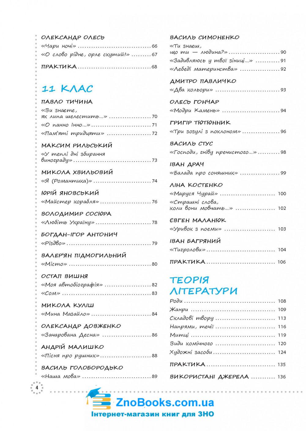 Українська література ЗНО 2021. Візуалізований посібник : Дем'яненко Г. Видавництво Основа. 3