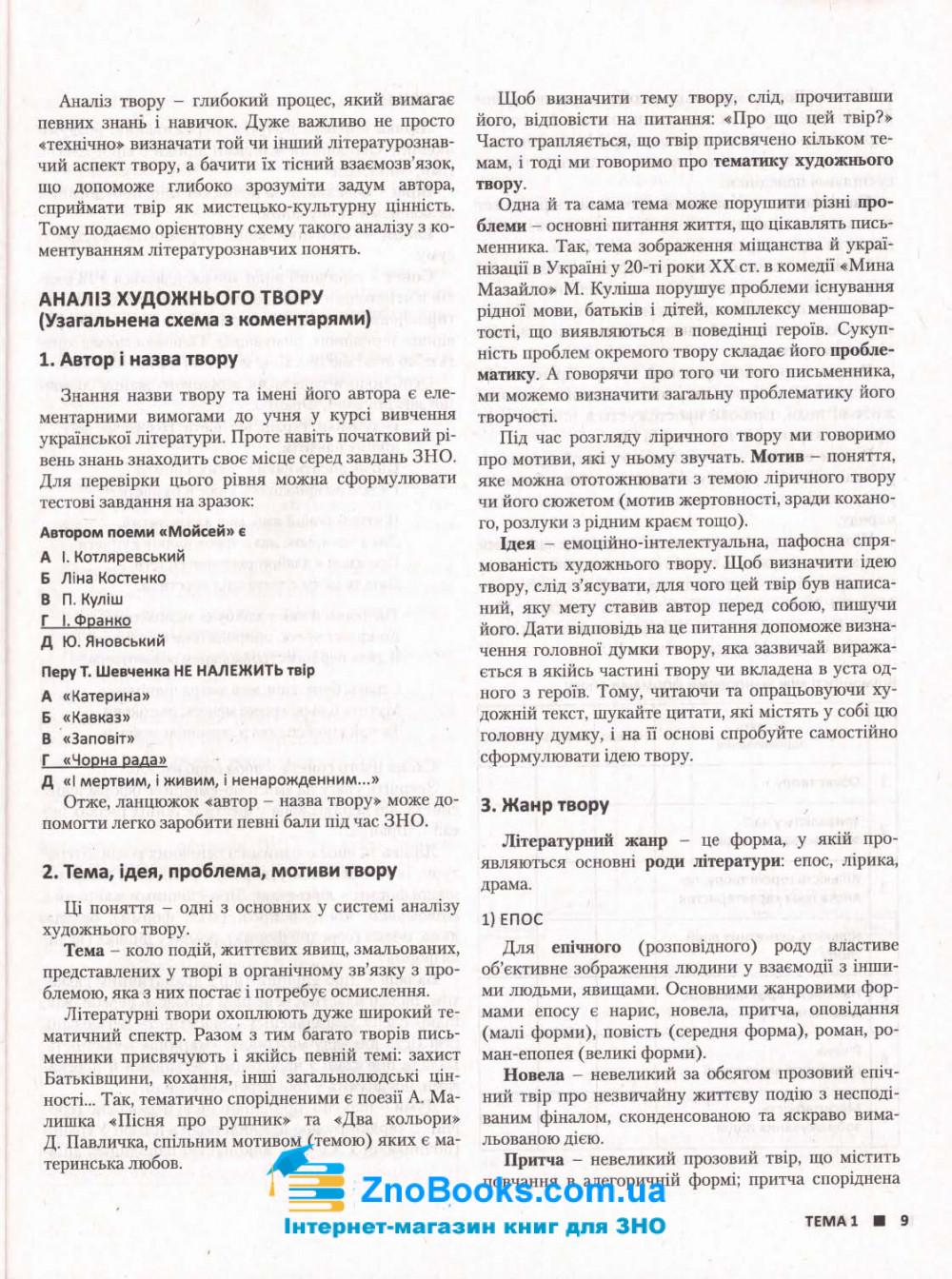 ЗНО 2022 Українська література. Комплексне видання :  Радченко І.  Літера. купити 5