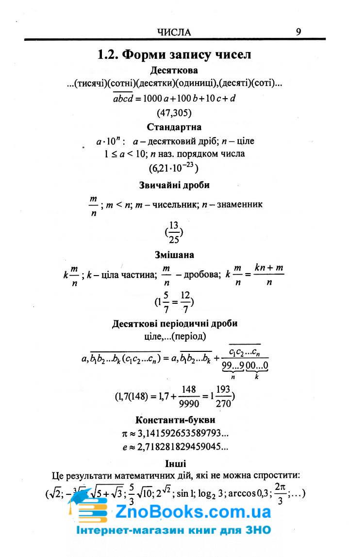 Алгебра і початки аналізу в таблицях і схемах : Бровченко О. Логос. купити  10