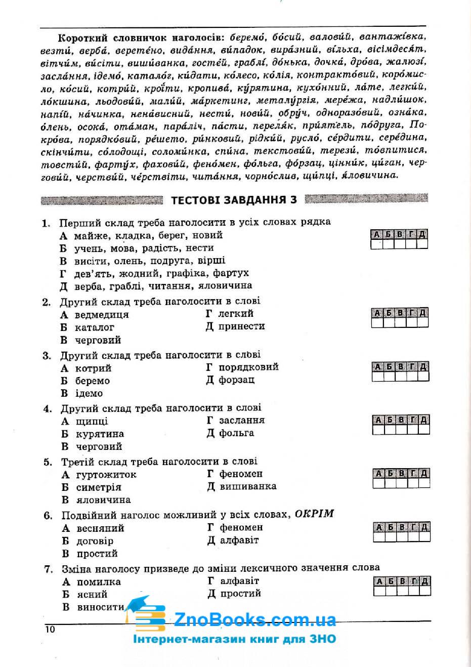 Українська мова та література ЗНО 2020. Довідник + тести : Куриліна О. Абетка. купити 9