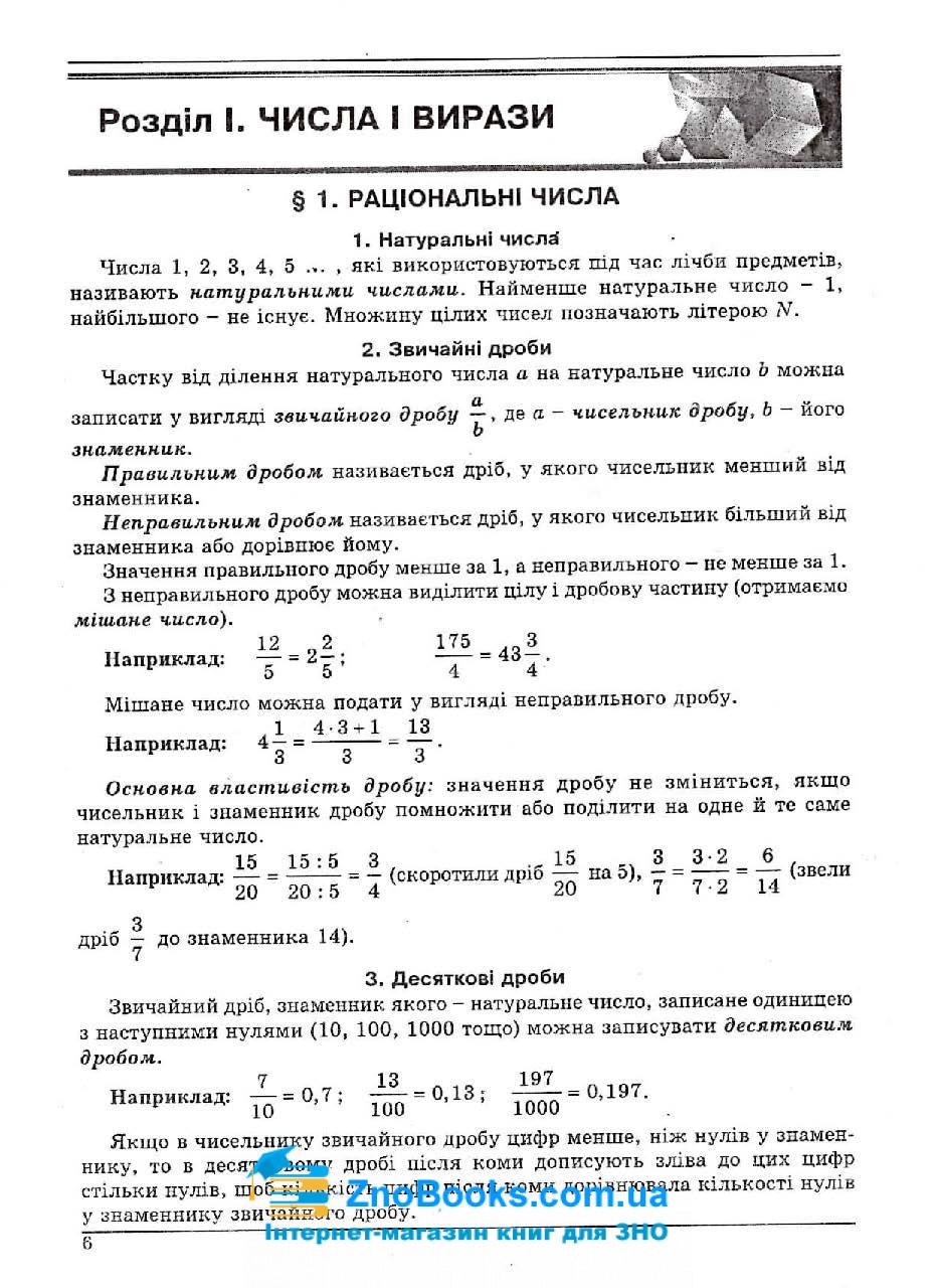Математика ЗНО 2021. Довідник + тести : Істер О. Абетка. купити 6