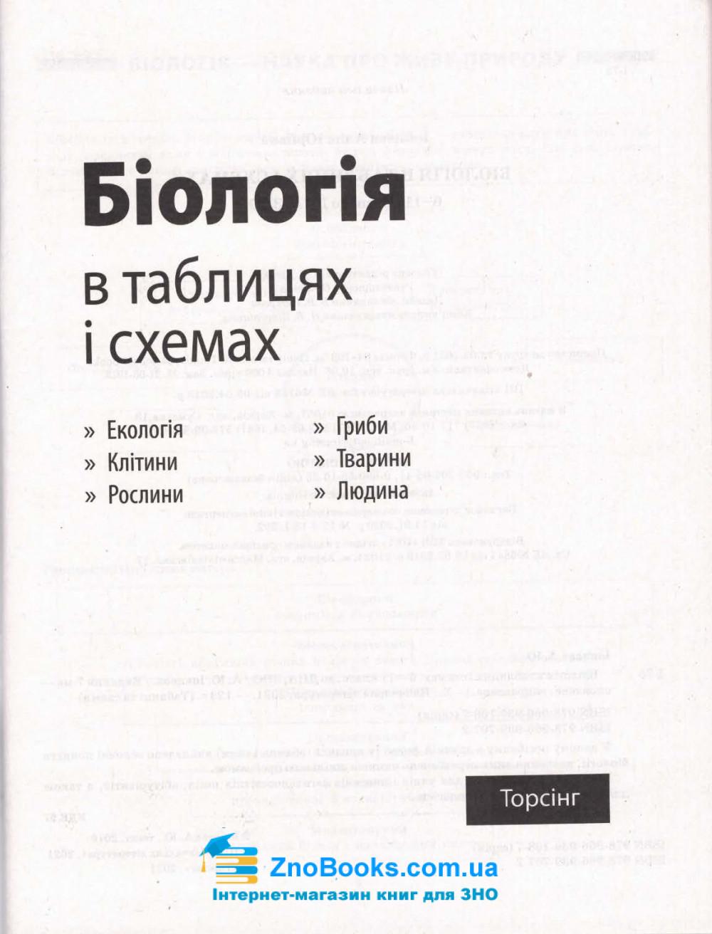 Таблиці та схеми. Біологія : Кравченко М. Торсінг. купити 1