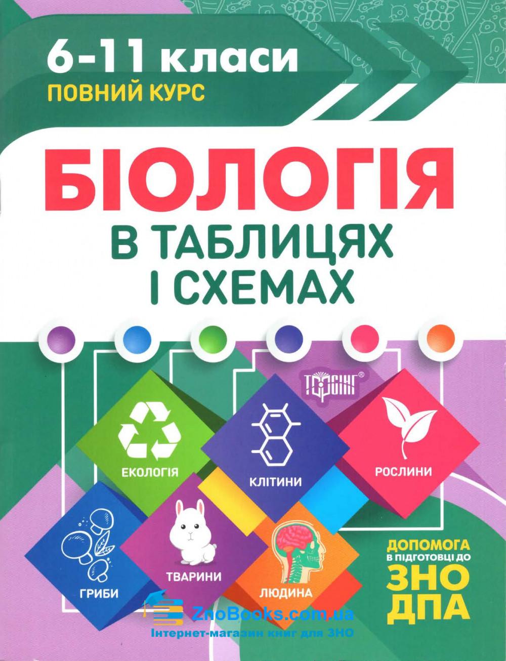 Таблиці та схеми. Біологія : Кравченко М. Торсінг. купити 0