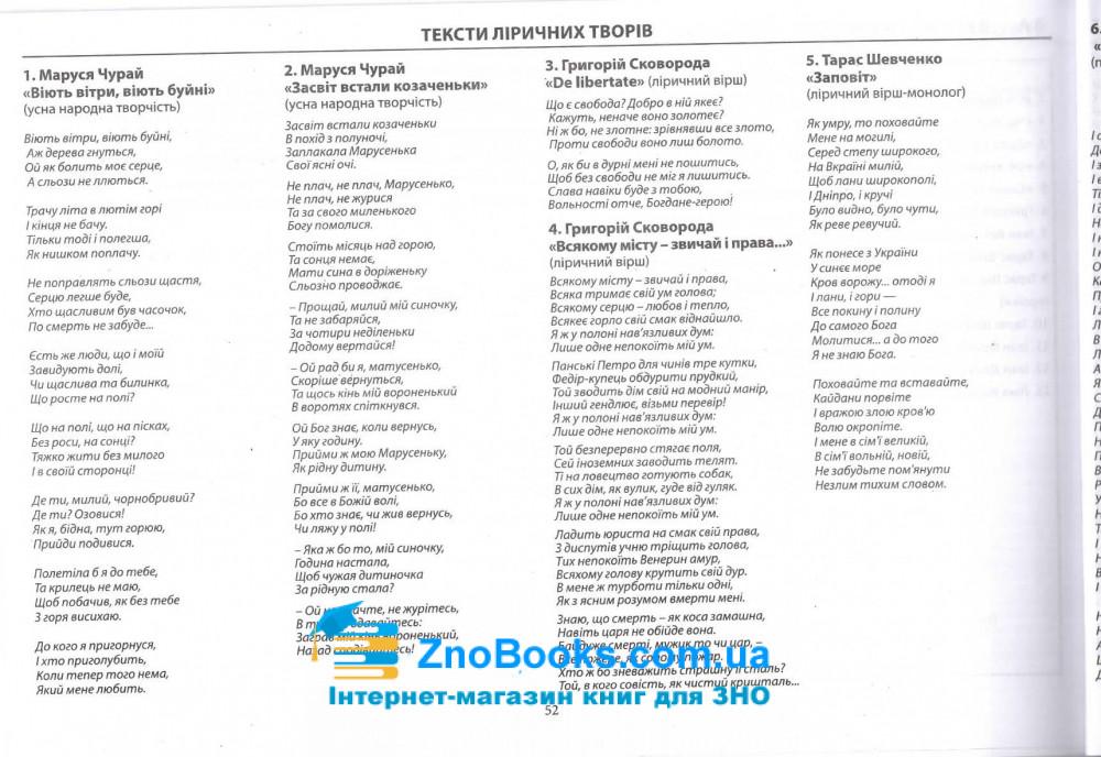 Модернізовані таблиці з української літератури. для підготовки до ЗНО : Шпільчак М. купити 10
