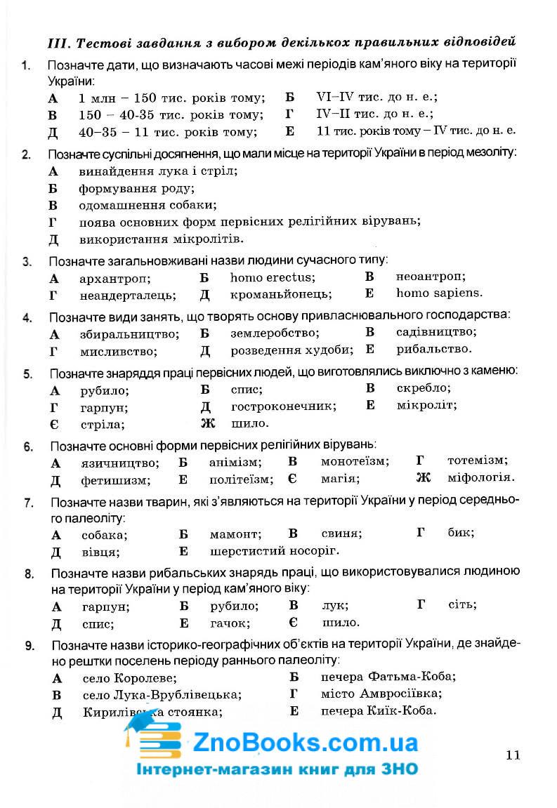 1715 тестів історія України ЗНО 2021.  Збірник : Островський В.  Мандрівець. купити 11