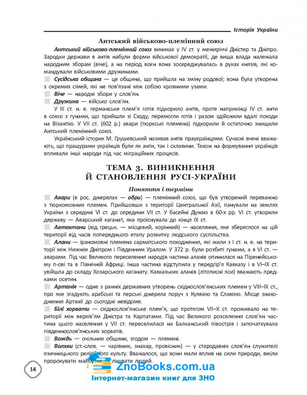 Довідник з історії України 5-11 клас до ЗНО : Харківська Н. Івакін О. Основа. 14