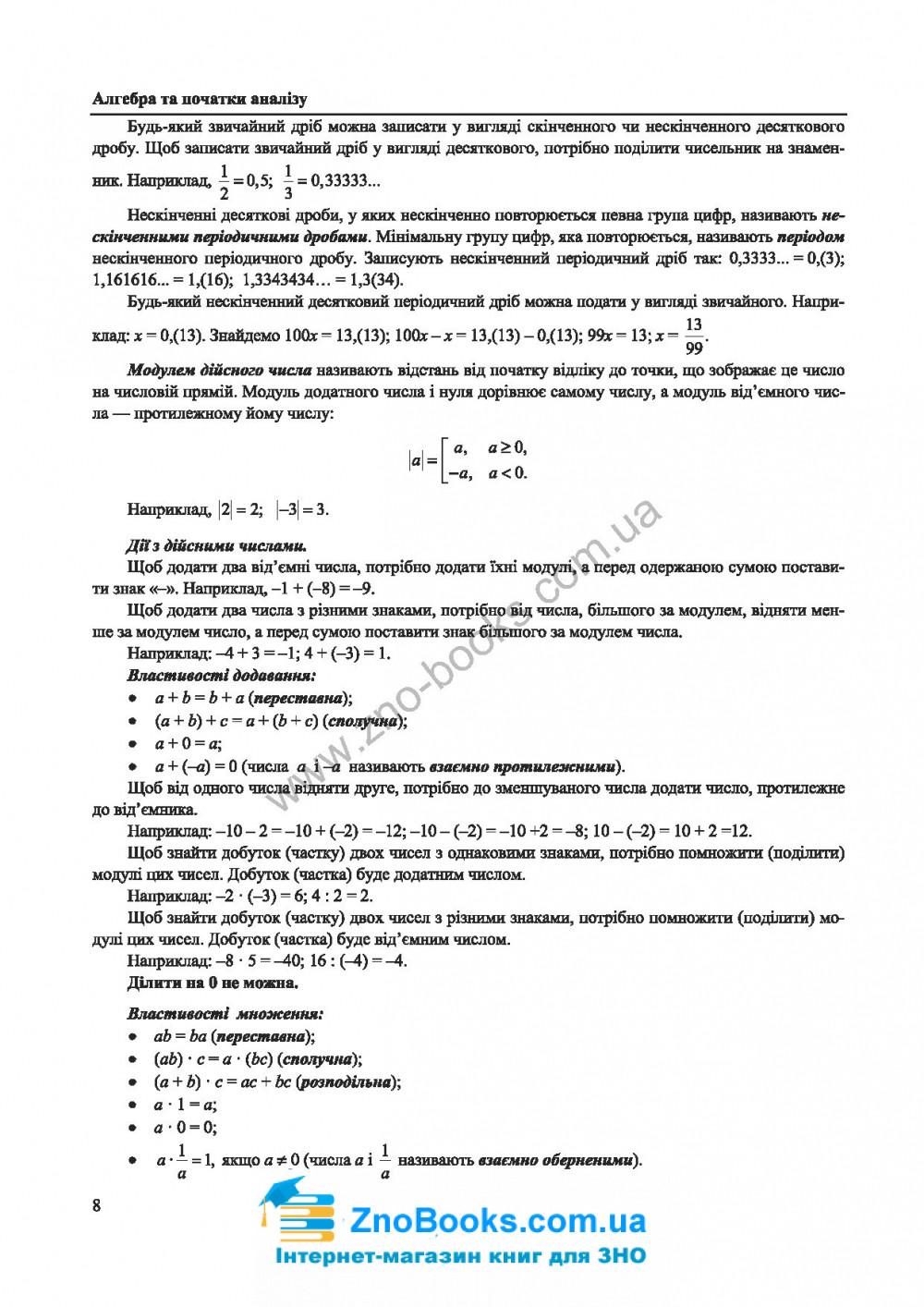 ЗНО 2022 Математика. Комплексне видання : Капеняк І., Гринчишин Я., Мартинюк О. Підручники і посібники 6