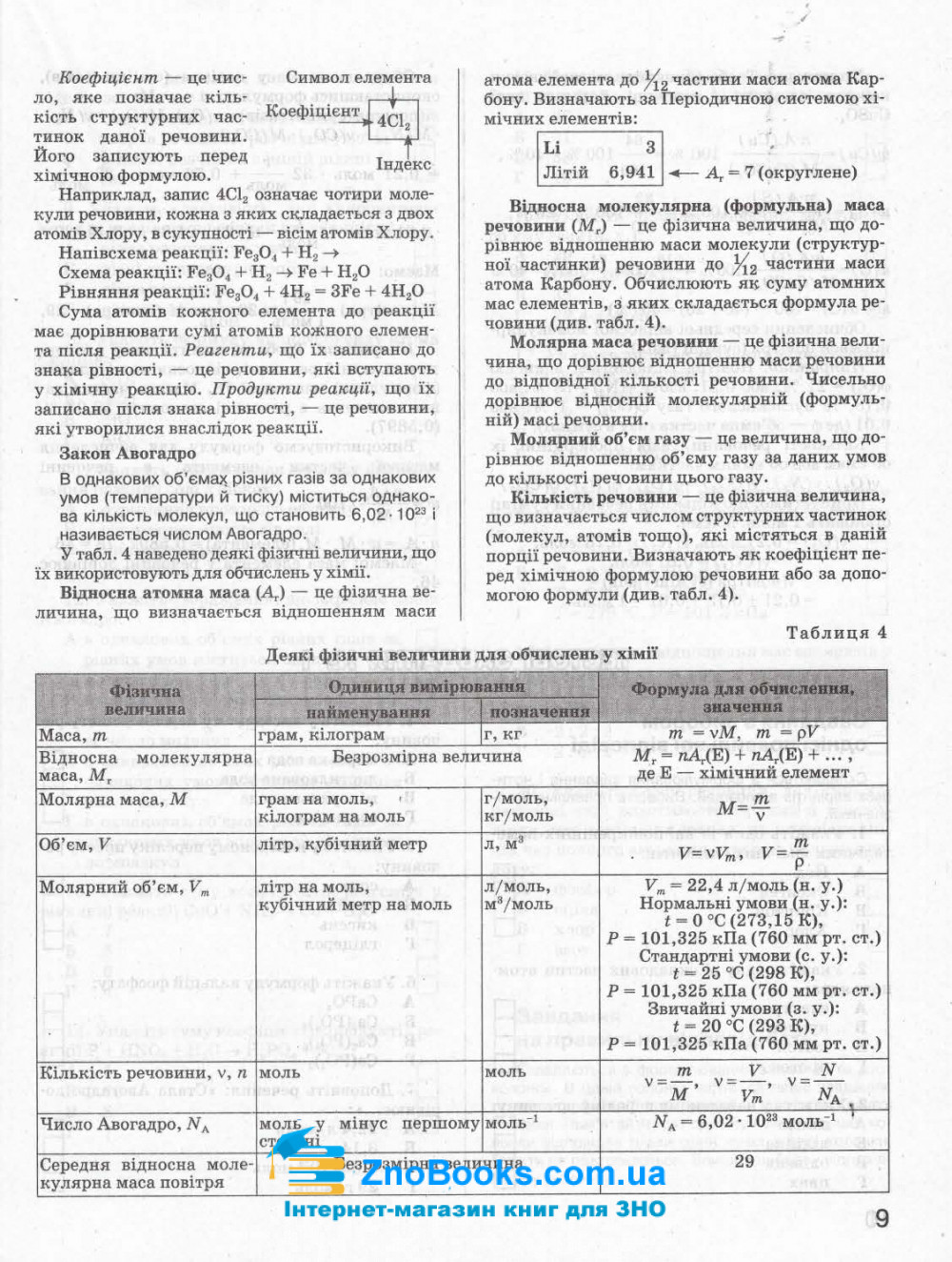 ЗНО 2021 Хімія. Комплексне видання : Титаренко Н. Літера. купити 9