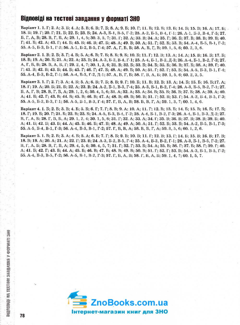 Історія України. Тестові завдання у форматі ЗНО 2021: Гук О. Освіта. купити 8