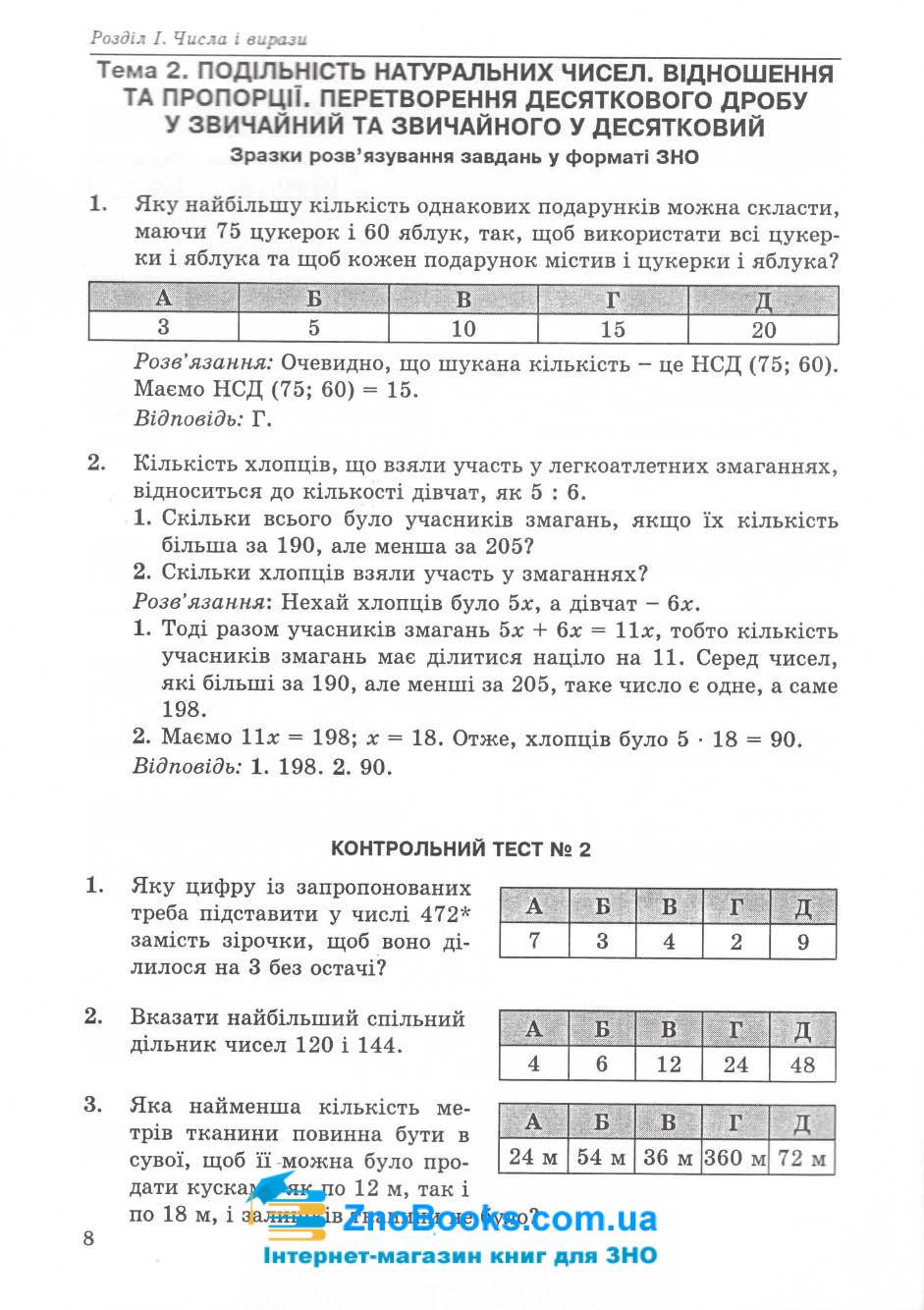 ЗНО та ДПА 2020. Математичний тренажер : Істер О. Абетка. купити 7