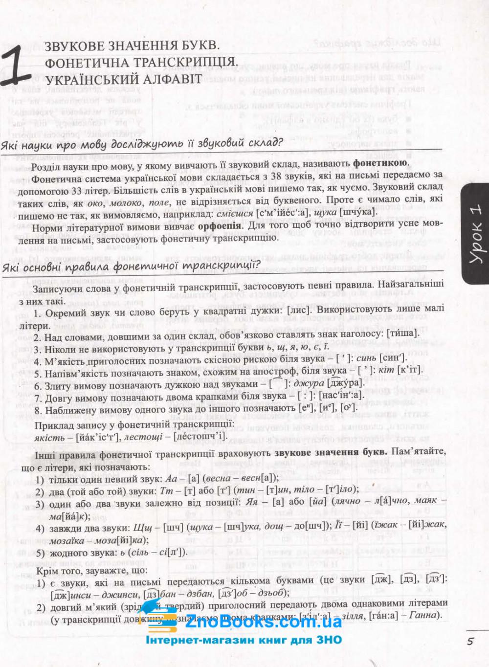 ЗНО 2022 Українська мова. Комплексне видання + ДПА : Данилевська О. Літера. купити 5