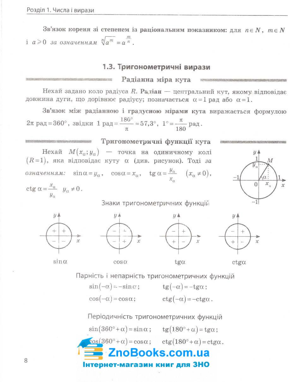 ЗНО 2022 математика в тестах. Частина 2 : Захарійченко Ю. Ранок. купити 8